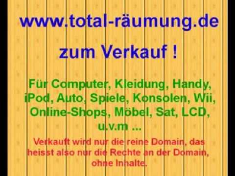Domain Verkauf total Räumung