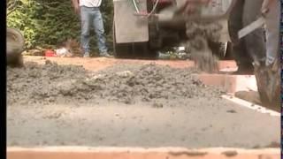 Constructing the Concrete Walkway