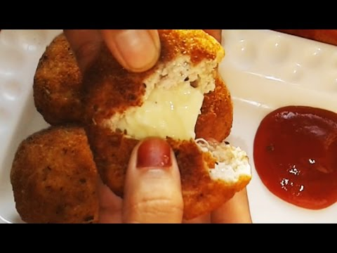 Stuffed Chicken Nuggets | Chicken Nuggets Stuffed With Mozzarella | Chicken Nuggets Video