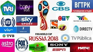 Fifa World Cup 2018 Live TV Channels of All Countries