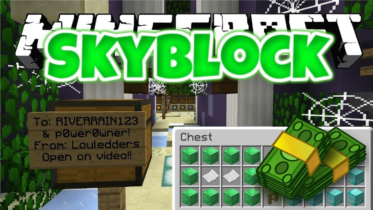 fan gives me a super expensive gift emotional minecraft skyblock 10 youtube. Black Bedroom Furniture Sets. Home Design Ideas