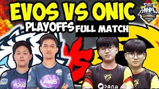 Evos legend Vs Onic Esports MPL 4 Invitational playoffs | full match