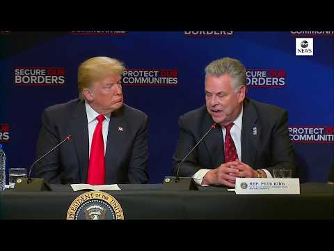 President Donald Trump participates in a roundtable on immigration   ABC News