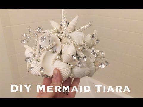 Mermaid shell Tiara DIY- Pinterest win!