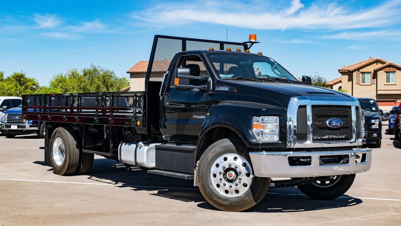 2017 Ford F-650 RC Flatbed Walkaround - YouTube