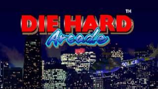 Die Hard Arcade (Sega 1996)  Attract Mode 60fps