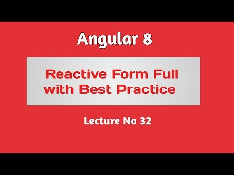 Angular 8 Tutorial - Part 32 -  Reactive Form in Angular 8 in Hindi/Urdu thumbnail