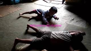 Real fight WWE with little children