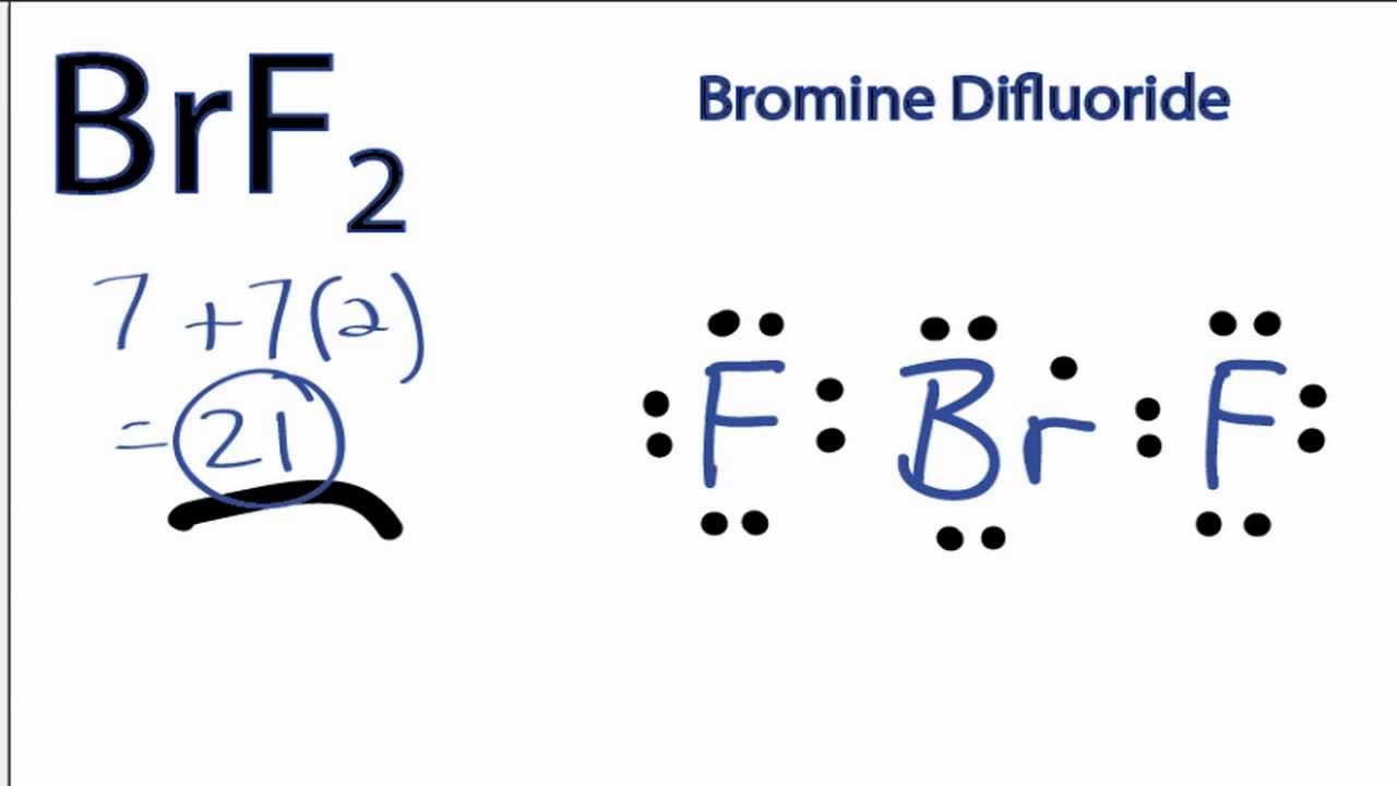 BrF2 Lewis Structure: How to Draw the Lewis Structure for Bromine ...
