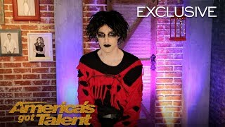 Goth Comedian Oliver Graves Anticipated Buzzers On AGT - America's Got Talent 2018