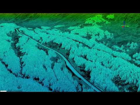 Turnagain Pass airborne laser scanning (lidar) on 20180330