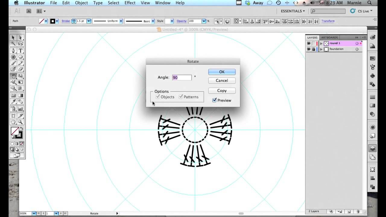 how to make a stitch pattern in illustrator
