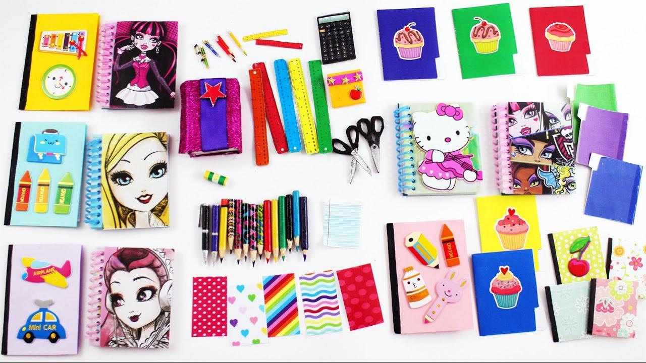 2 Bebek Okul Malzemeler Yapımı Monster High Ve Barbie Okul