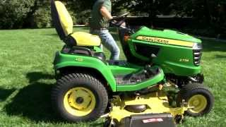 X700 Signature Series Drive Over Mower Deck Installation and Removal