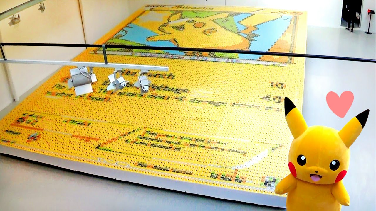 la plus grande carte pikachu du monde record de. Black Bedroom Furniture Sets. Home Design Ideas