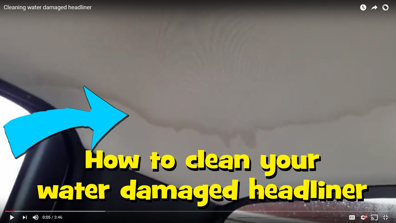 Cheap DIY car headliner water stain removal. Guaranteed! - YouTube