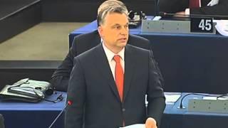 Orbán Viktor viszontválasza az Európai Parlamentben - 2013.07.02
