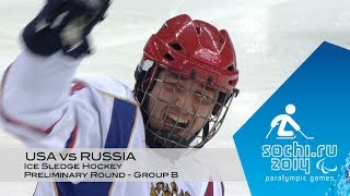 USA vs Russia highlights | Ice sledge hockey | Sochi 2014 Paralympic Winter Games