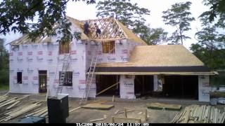 Time Lapse Home Construction (156 days of construction in 12.75 minutes)