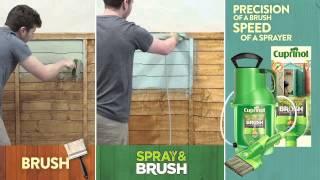 Cuprinol: Spray & Brush Painting Demo