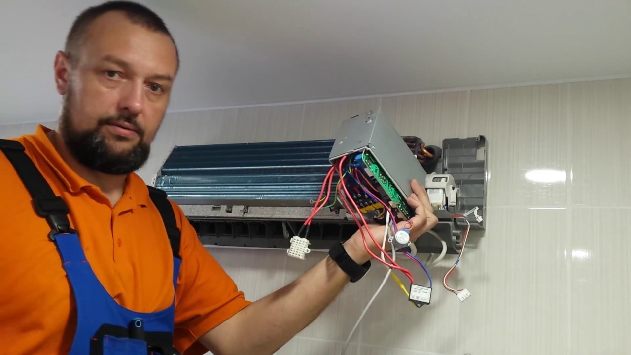 Разбираем внутренний блок кондиционера для чистки