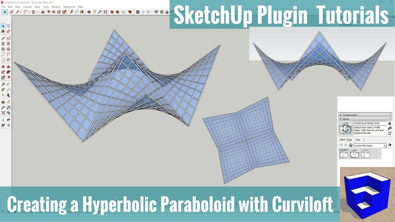 Creating A Hyperbolic Paraboloid In Sketchup With