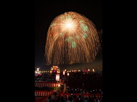 1200mm and 900mm shell ! Largest  Fireworks in the world  2015  四尺玉 片貝祭