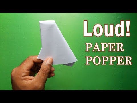 How To Make an Easy Paper Popper - Origami Popper Easy and Loud