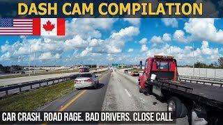 Car Crashes in America USA & Canada bad drivers  Road Rage 2017 # 001