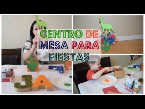 decoracion cumpleaños para niños como hacer centro de mesas facil