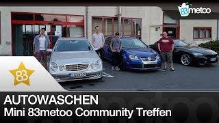 Autowaschen & mini 83metoo community treffen | vw scirocco r - vw golf r32 - mercedes benz e500