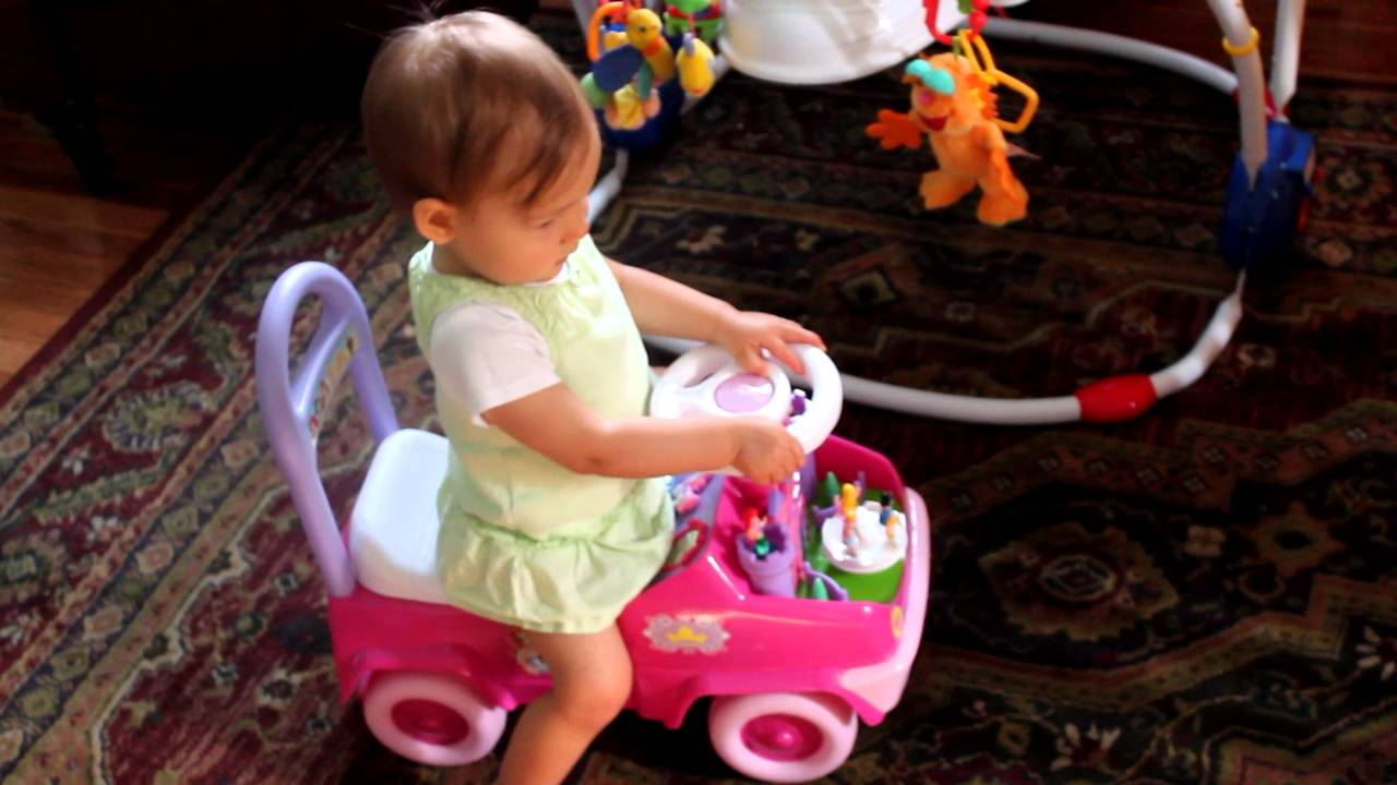 Disney Princess Activity Ride On Toy Demo By Toddler Girl