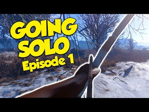 GOING SOLO - Rust Solo Survival #1