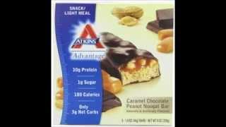 Atkins Advantage Caramel Bars Chocolate Peanut Nougat
