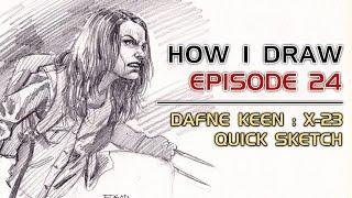 How I Draw Ep. 24 - Dafne Keen: X-23