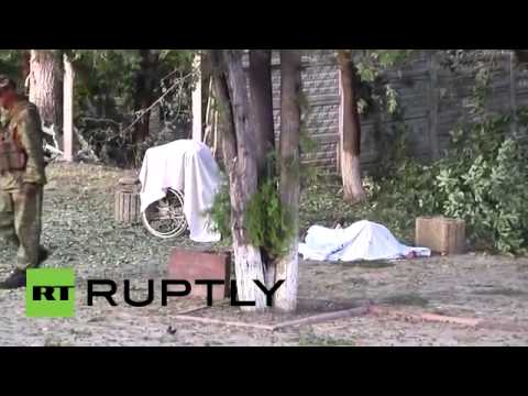 GRAPHIC  Five killed after home for elderly shelled in Lugansk, E Ukraine