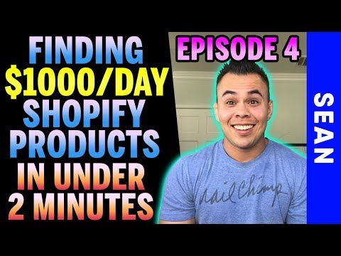 CRAZY Shopify Research Tool That Finds $1,000/Day Products In 2 Minutes - Shopify Dropshipping