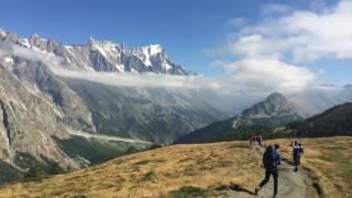 The Tour du Mont Blanc, September 2016.