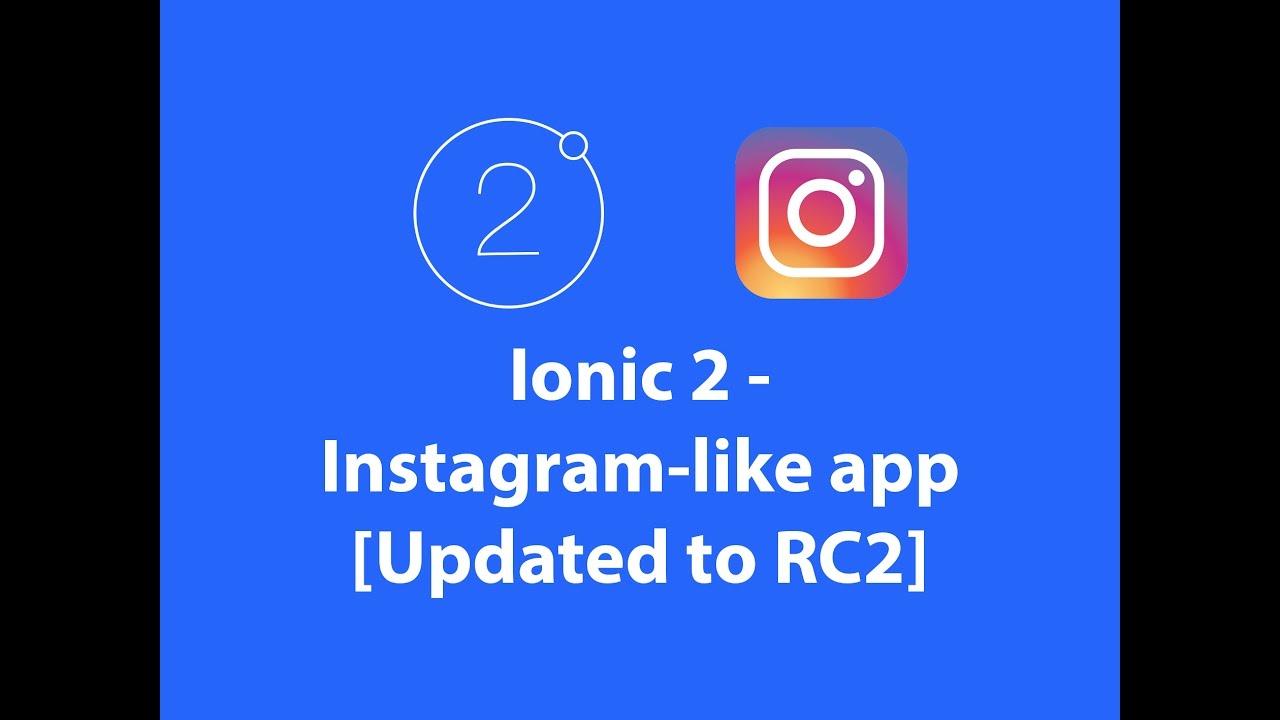 Ionic 2 — instagram-like app (Ionic 2 RC2) - Janez Čadež