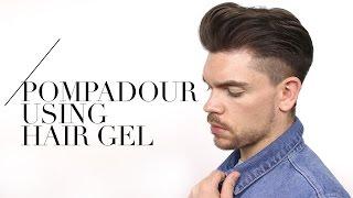 Mens Pompadour Using Hair Gel