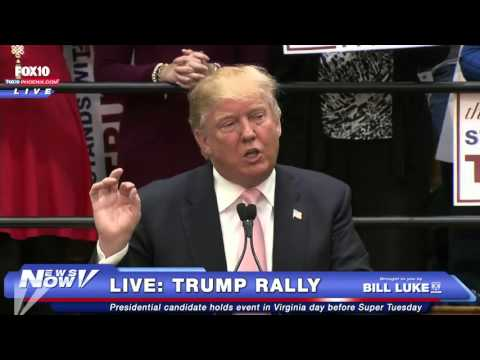Trump Rally In Radford, Virginia The Day Before Super Tuesday