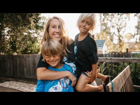 Backyard campout with my nephews!!