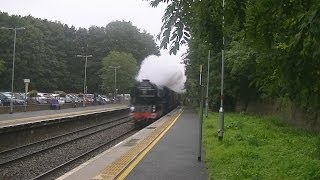60163 Tornado flies through Keynsham with The Cathedrals Express 17-09-2013
