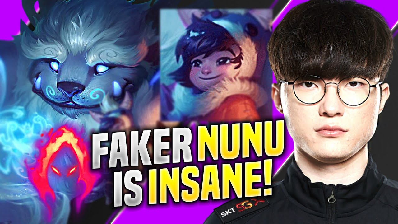 FAKER IS INSANE WITH NUNU MID! - SKT T1 Faker Plays Nunu Mid vs Akali! | KR SoloQ Patch 10.14
