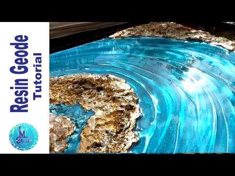 AWESOME RESIN GEODE with a natural look, constraction foam, plaster & resin