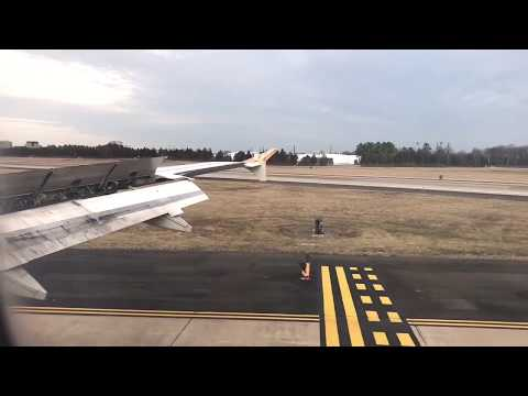 Frontier Airlines Airbus  Airbus A319 Landing Washington Dulles International Airport 19L