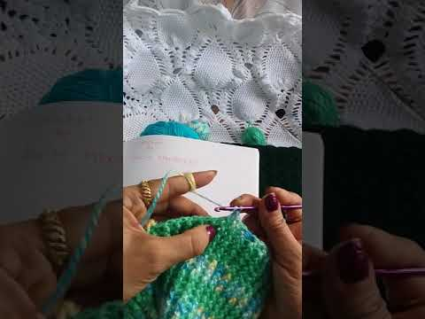 Crochet  : Ribbed stich ( how to crochet  fpdc  &  bpdc )