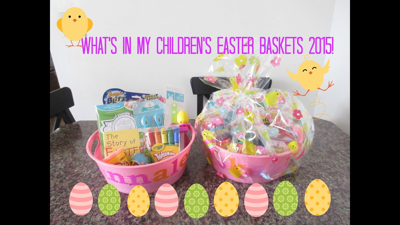 Kids easter baskets 2015toddler child youtube negle Images