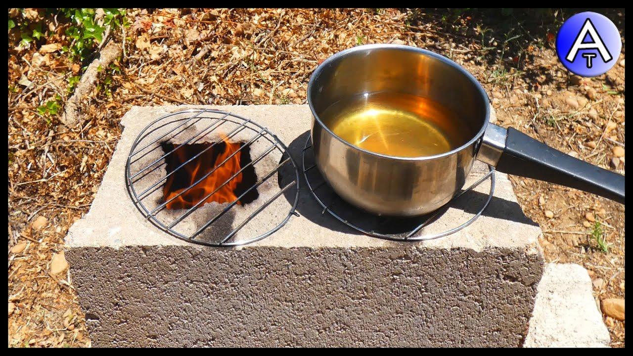 Cocina Rústica De 2 Fogones Por 2 Con 4 Bloques De Cemento Hormigón Estufa Rústica Atlasnube Youtube