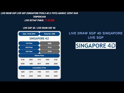 LIVE DRAW SGP 4D PRIZE HARI INI SINGAPORE POOLS MINGGU, 10 FEBRUARI 2019